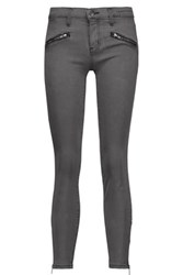 Current Elliott The Soho Zip Stiletto Mid Rise Skinny Jeans Anthracite