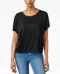 Rachel Rachel Roy Split Back Short Sleeve Top Black