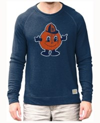 Retro Brand Men's Syracuse Orange Quad Crew Sweatshirt Navy