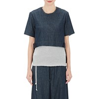 Tim Coppens Denim Layered Back Top Blue