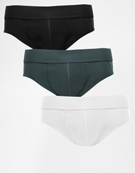 Asos Mini Briefs 3 Pack With Mesh Panels Save 20 Multi
