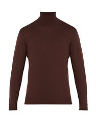Connolly Roll Neck Wool Sweater Brown