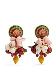 Dolce And Gabbana Daisy Multi Charm Drop Earrings