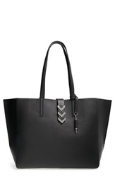 Mackage 'Aggie' Shopper Black Black Shiny Nickel