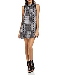 Bcbgeneration Patchwork Print Tent Dress Black Combo