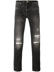 Paul Smith Ps By Destroyed Skinny Jeans Men Cotton 31 Black