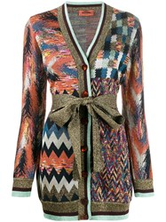Missoni Multi Pattern Cardigan Blue