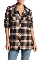 Volcom Crave You Long Sleeve Plaid Shirt Black