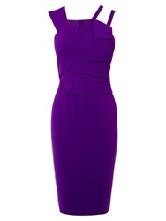 Karen Millen Modern Folded Dress Purple