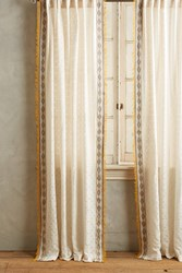 Anthropologie Thayer Curtain Yellow Motif