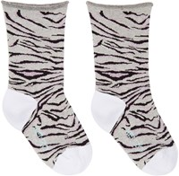 Kenzo Grey Tiger Stripe Socks