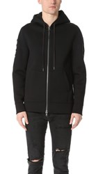 Helmut Lang Sponge Fleece Tape Zip Hoodie Black