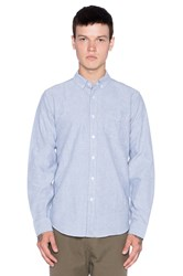 Obey Quality Dissent Oxford Button Up Blue