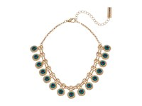 Steve Madden Floral Charm Chain Choker Necklace Gold Necklace