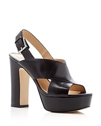 Michael Michael Kors Mariana Platform High Heel Sandals Black