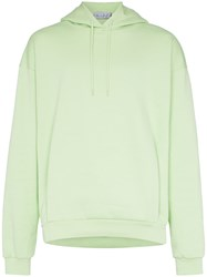 Martine Rose Classic Logo Embroidered Cotton Hoodie Green