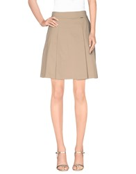 Ottod'ame Skirts Mini Skirts Women Beige
