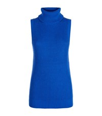 Michael Michael Kors Sleeveless Turtleneck Sweater Female Blue