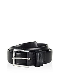 Cole Haan Feather Edge Belt With Pinch Detail On Loop Black