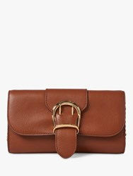 Ralph Lauren Medium Chain Strap Leather Clutch Bag Tan