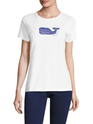 Vineyard Vines School Of Whales Printed Tee White Cap