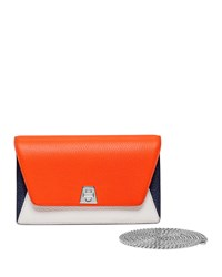 Akris Anouk Mini Chain Clutch Bag Orange