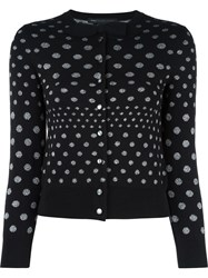 Marc By Marc Jacobs Metallic Polka Dot Cardigan Black