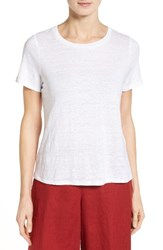 Eileen Fisher Women's Organic Linen Tee White