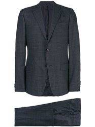 Z Zegna Checked Two Piece Suit Grey