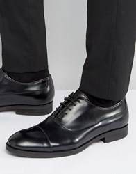 Selected Leather Oxford Shoes Black