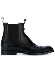 Gucci Brogue Ankle Boots Black