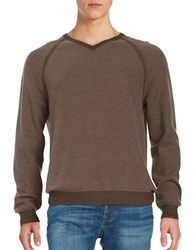 Tommy Bahama Reversible V Neck Pullover Brown