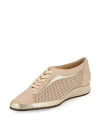 Amalfi By Rangoni Ethel Perforated Leather Sneaker Cashmere