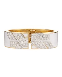 David Webb 18K Diamond Manhattan Cuff Bracelet