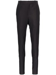 Y Project Mid Rise Slim Leg Trousers Black