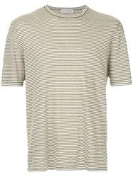 Gieves And Hawkes Striped T Shirt Green
