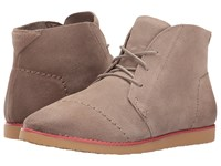 Toms Mateo Chukka Bootie Desert Taupe Burnished Suede Women's Lace Up Boots Tan