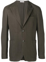 Boglioli Button Up Blazer Brown