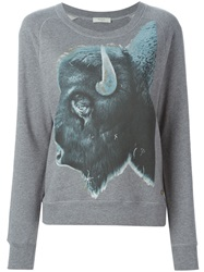 Paul By Paul Smith Animal Print Sweatshirt Grey