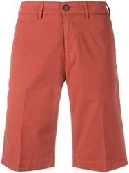 Canali Straight Fit Shorts Red