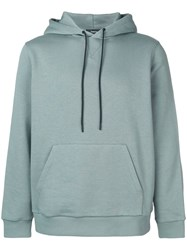 Theory Hooded Dotted Sweatshirt Green