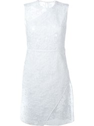 Carven Embroidered Organza Dress White