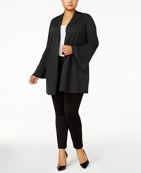 Alfani Plus Size Open Front Cardigan Created For Macy's Deep Black