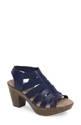 Munro American Women's 'Cookie' Slingback Sandal Blue Leather