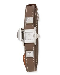 Hermes Medor Stainless Steel And Leather Strap