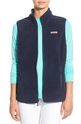 Women's Vineyard Vines 'Westerly' Fleece Vest Vineyard Navy