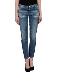 Pinko Tag Denim Capris Blue