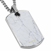 Mikol Real Marble Dog Tag Collectioncarrara White