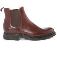 Heschung Tremble Brown Smooth Leather Elastic Boots
