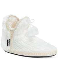 Muk Luks Amira Slide Boot Slippers Ivory
